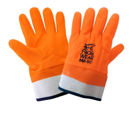 Global Glove FrogWear - High-Visibility PVC Cold Protection Gloves; 880-SC