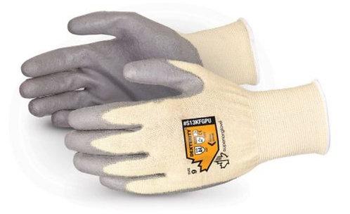 Superior Glove Dexterity Cut Resistant w/ Polyurethane Palms Glove; S13KFGPU