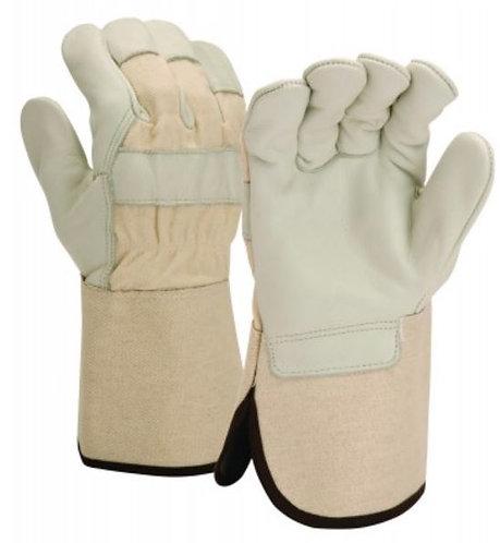 Pyramex Premium Cowhide Leather Palm w/ Wing Thumb; GL1004W