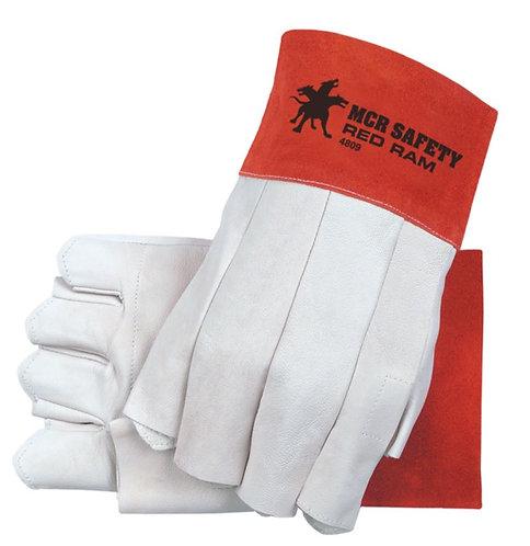 MCR Red Ram® Goatskin Leather Fingerless Bundlers Work Gloves 4800