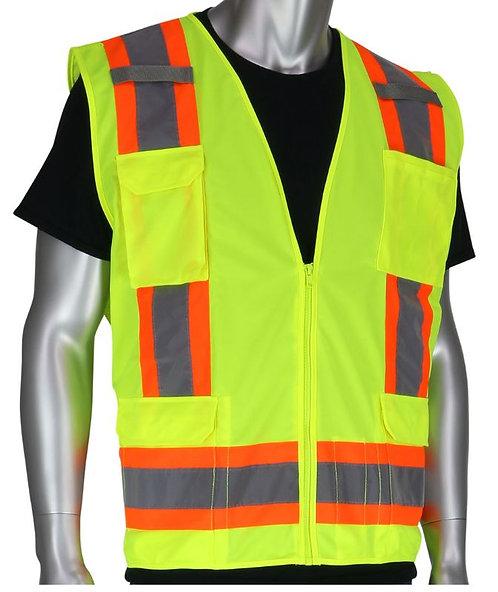 PIP Class 2 Two-Tone Eleven Pocket Surveyors Vest; 302-0500S