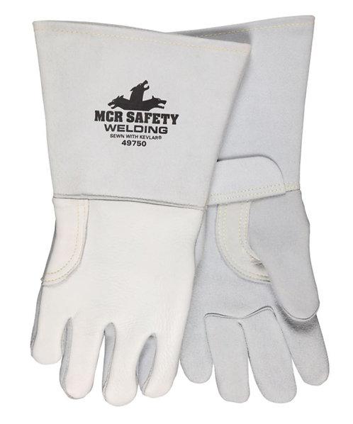 MCR Pearl Gray Grain Elkskin Welding Glove 49750