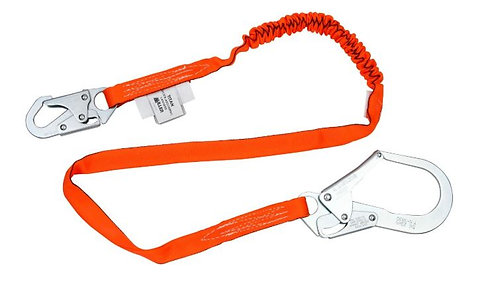 Miller Titan II Tublar Single Leg Shock-Absorbing Lanyard; 6 ft