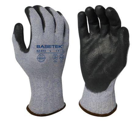 Armor Guys Basetek® 13g Black Polyurethane Coated Glove; 02-015