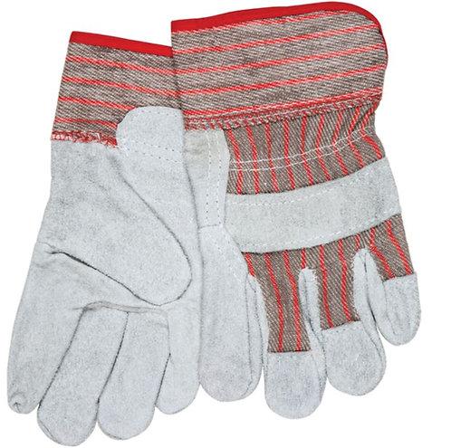 MCR Ladies Economy Split Leather Palm Work Gloves; 1201S