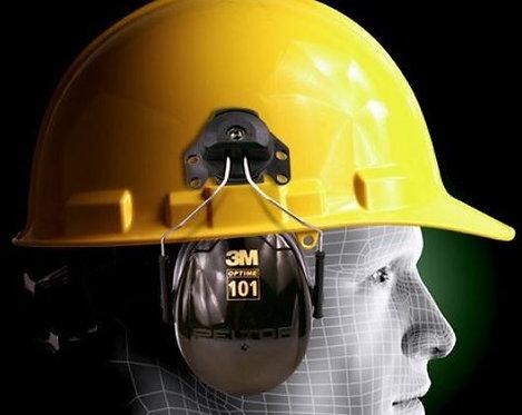 3M™ PELTOR™ Optime™ 101 Earmuffs H7P3E, Hard Hat Attached