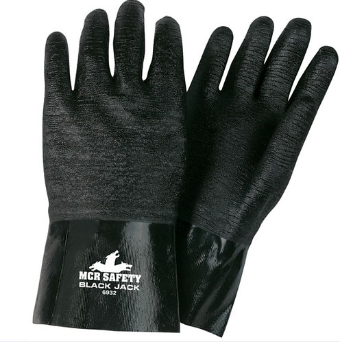 "MCR Black Jack® 12"" Multi-Dipped Neoprene w/ Etched Rough Finish Glove; 6932"