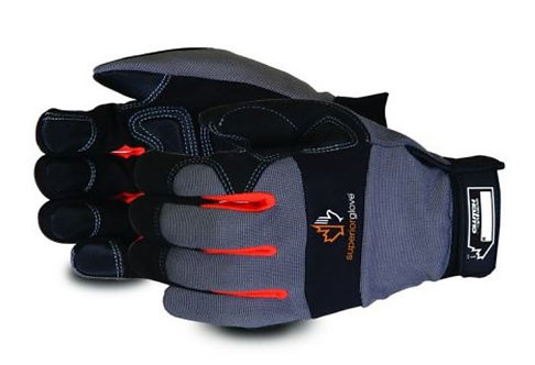 Superior Glove Clutch Gear® Mechanics Glove with PVC Diamond Grip; MXGBE