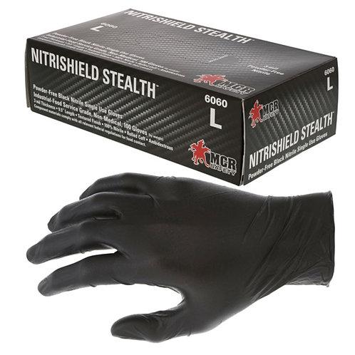 MCR NitriShield™ Stealth™ Disposable Nitrile Gloves; 6060