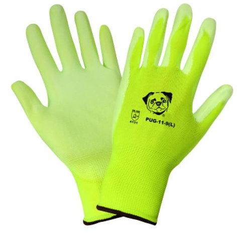 Global Glove High-Visibility Polyurethane Coated Glove; PUG-11