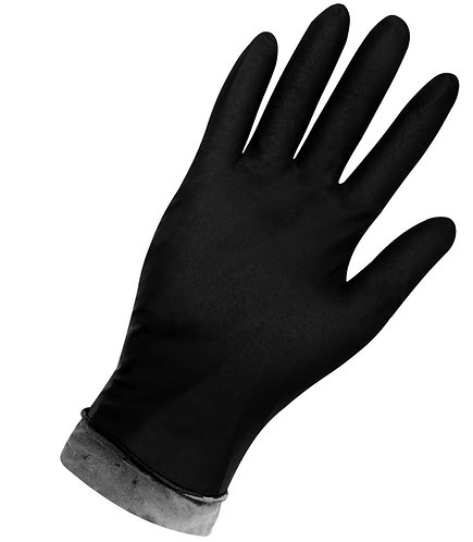 Global Glove Panther-Guard Disposable 8mm Flock-Lined Long Cuff Nitrile; 800F