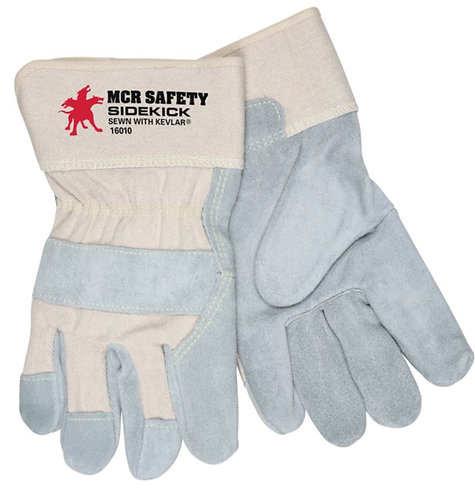 MCR Sidekick® Split Leather Palm Work Gloves; 16010