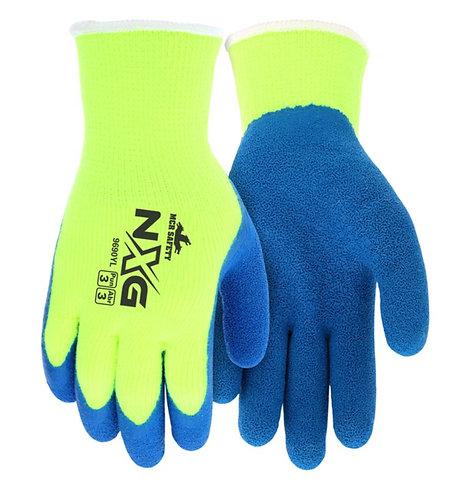 MCR Safety NXG Hi-Visibility Acrylic Shell Latex Palm Glove; 9690Y
