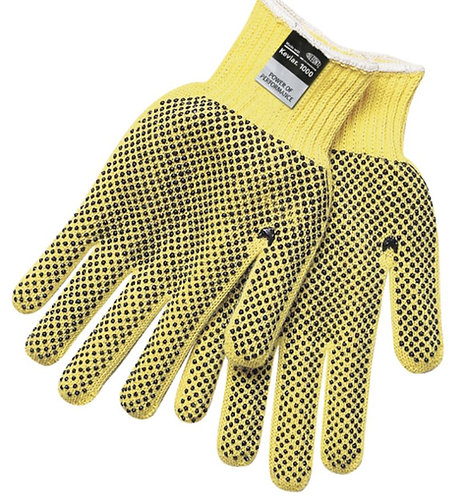 MCR Cut Pro Kevlar Regular Weight PVC Dots on 2 Sides Glove; 9366