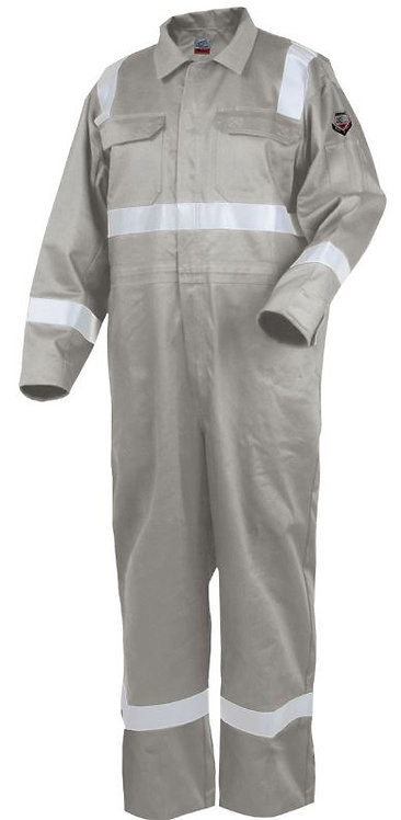 Black Stallion Deluxe Stone Khaki Fire Resistant Cotton Coverall; CF2216-ST