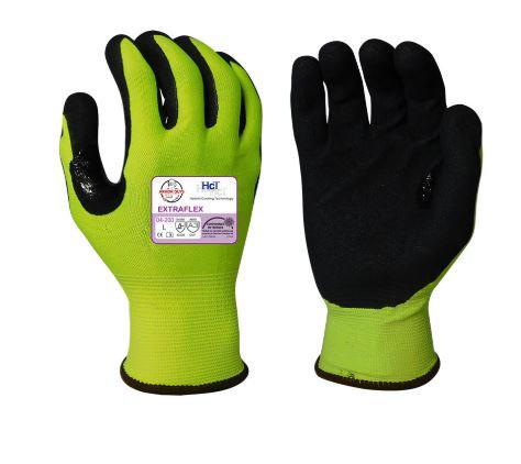 Armor Guys Extraflex HI-VIS Black HCT MicroFoam Nitrile Coated Glove; 04-200