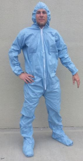 SunGard Fire Resistant Coveralls w/ Hood& Boots, Elastic Wrist & Ankle