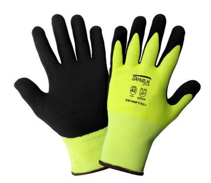 Global Glove Samurai High-Visibility Cut Resistant Coated Glove; CR18NFT