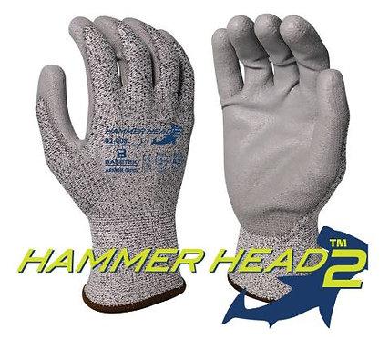 Armor Guys Basetek Hammerhead 2 Gray Polyurethane Palm Coated Glove; 02-008