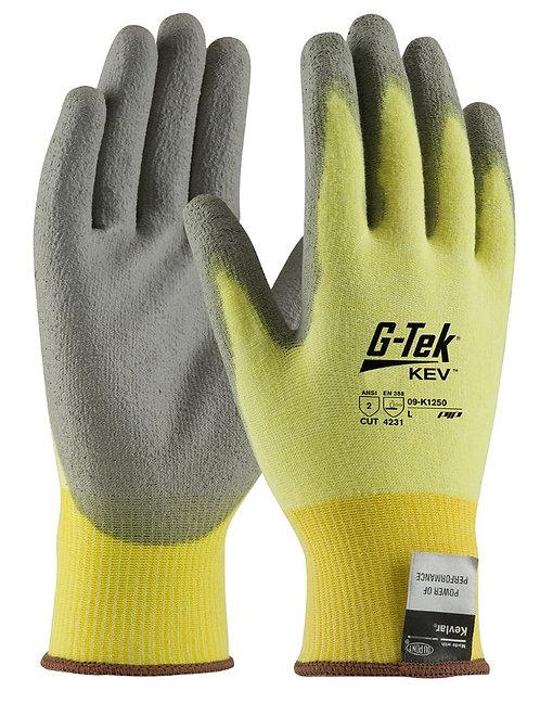 PIP G-Tek Kev Knit Kevlar Polyurethane Coated Glove; 09-K1250