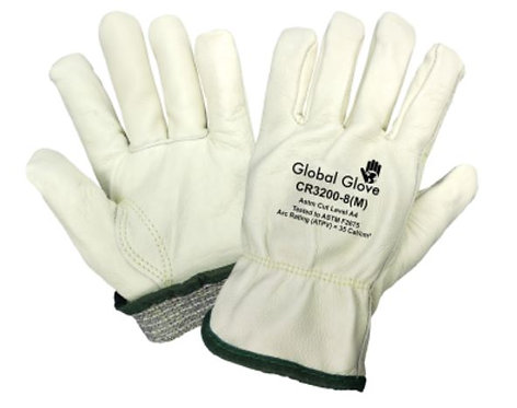 Global Glove Cut & Heat Resistant Leather Drivers Style Glove; CR3200
