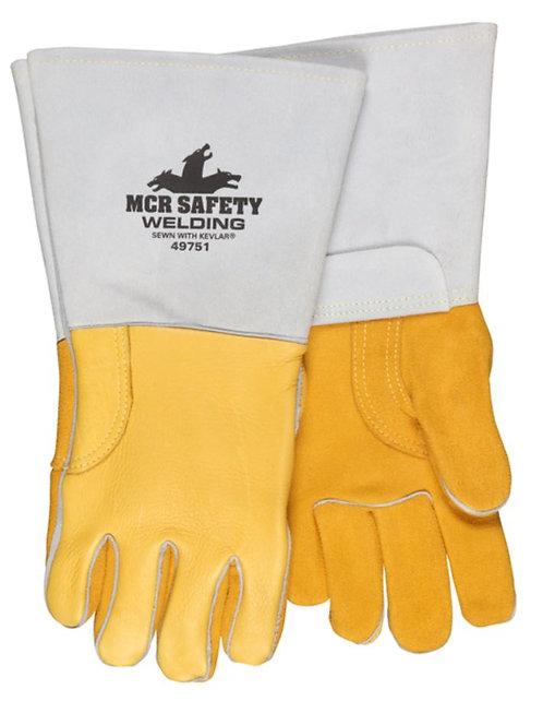 MCR Premium Gold Grain Elkskin Leather Welding Glove 49751