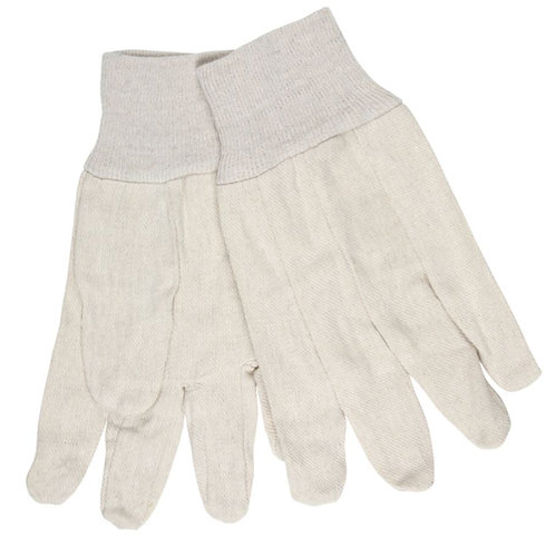 MCR 8 oz White Canvas Knit Wrist, Straight Thumb Glove; 8100