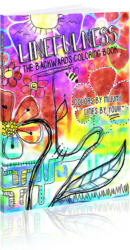 LINEFULNESS The Backwards Coloring Book. The colors are by mijumi and the lines are by you.