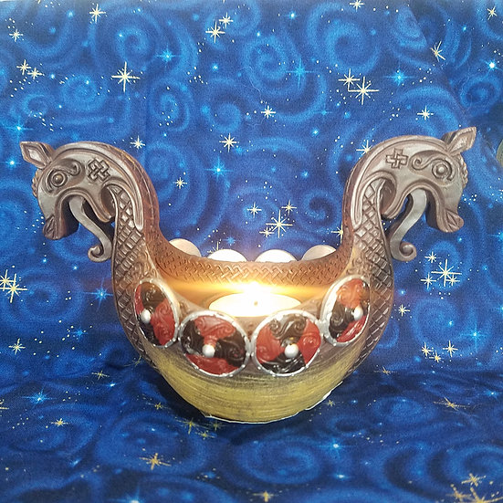 Viking Ship Bowl/Tealight Holder
