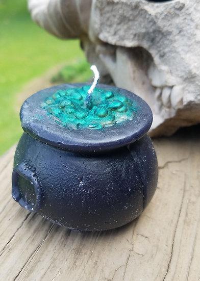 Bubbling Cauldron Candle-Green