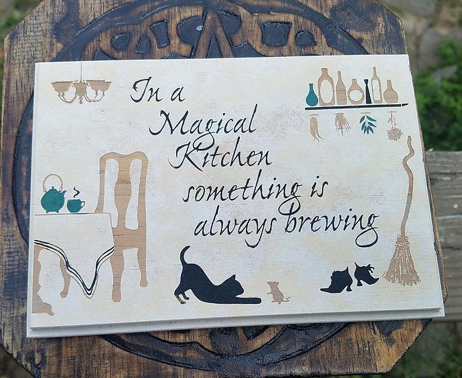Magical Kitchen Plaque