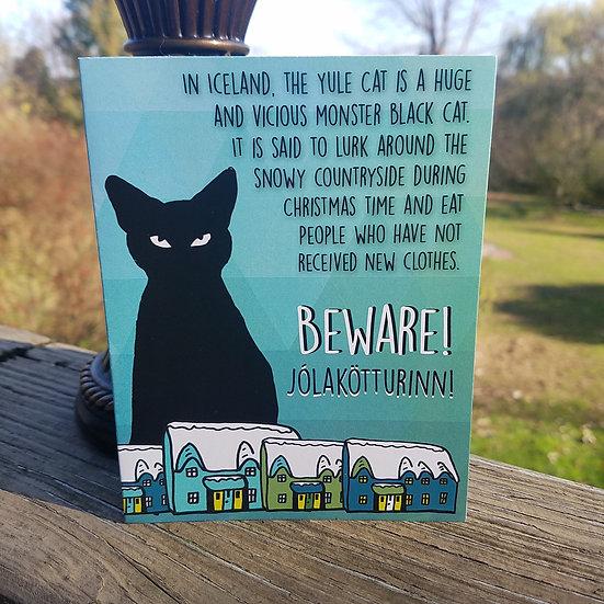 Icelandic Yule Cat Card-Blank Inside