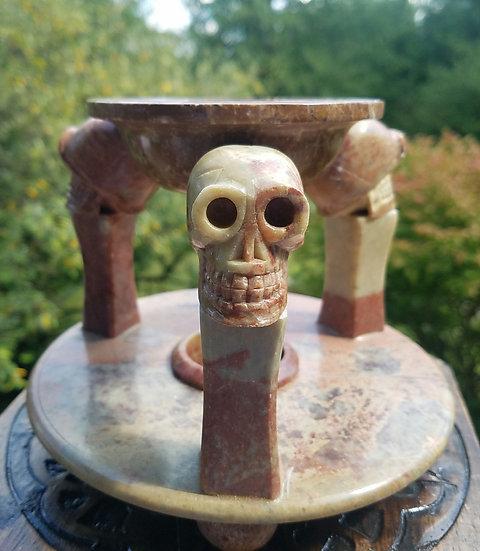 Heavy Stone Skull Oil/Incense Burner