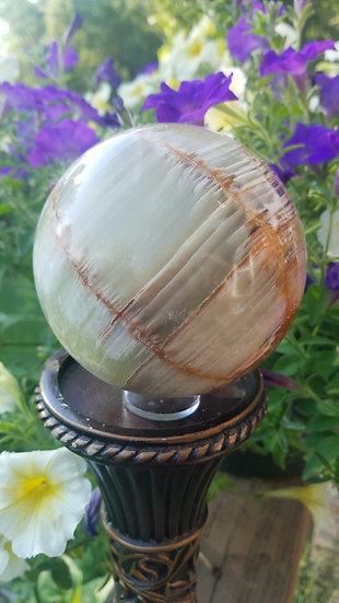 100mm Green Onyx Sphere