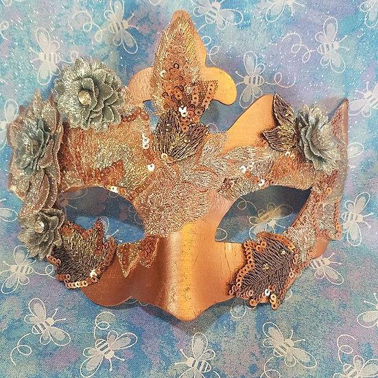 Rose Gold Venetian Mask