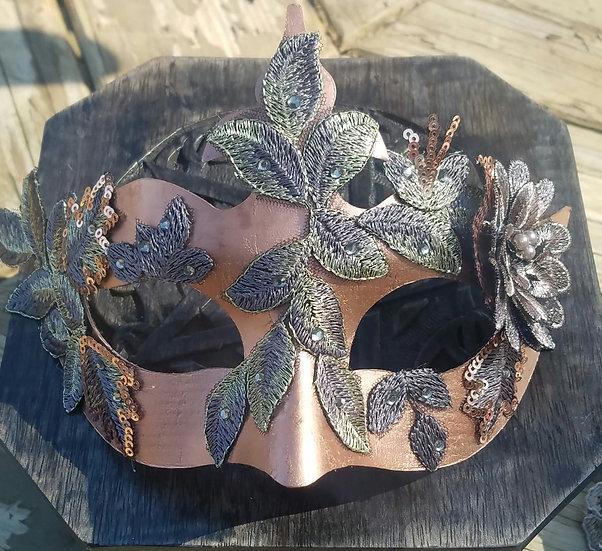 Freya Copper Venetian Mask