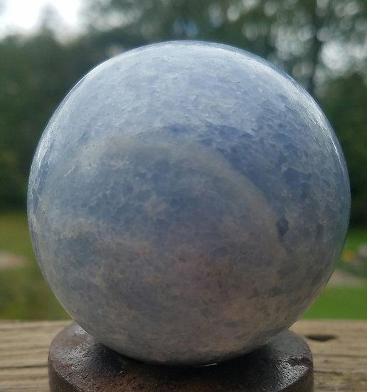 Blue Calcite Sphere-medium
