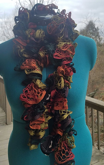 Earth Goddess Crocheted Scarf