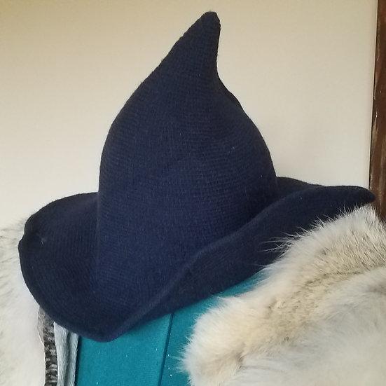 Midnight Navy Wool Witch's Hat