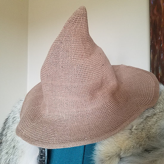 Straw Woven Witch's Hat