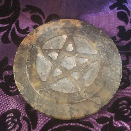 Stone Pentacle  Altar Tile-Small
