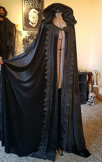 Black Velvet Shadow Walker Cloak FOR ZOE