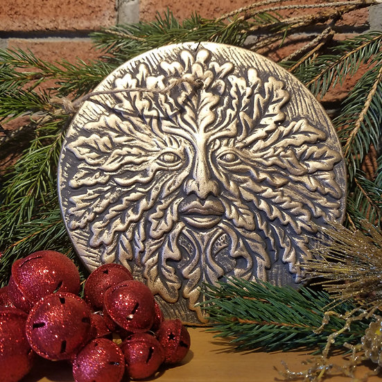 Large Clay Greenman Plaque