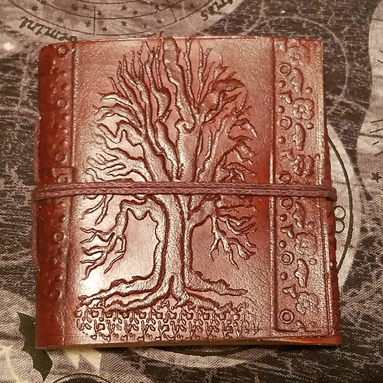 Leather Tree of Life Pocket Journal