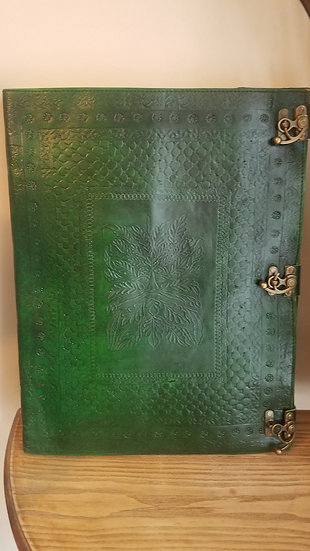 Enormous 14x18 Greenman Book of Shadows Journal