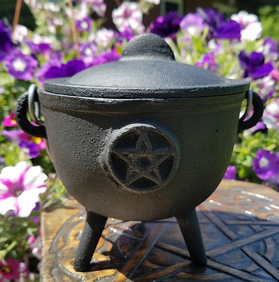 """Cast Iron Pentacle Cauldron 4.5"""""""