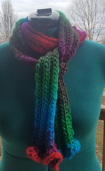 Ombre Hand Knitted Scarf