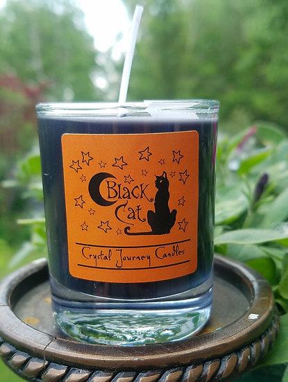 Black Cat Protection Votive Candle