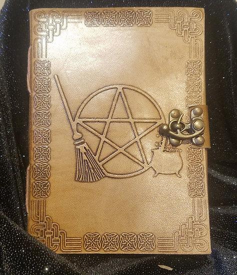 Broom & Pentacle Leather Journal