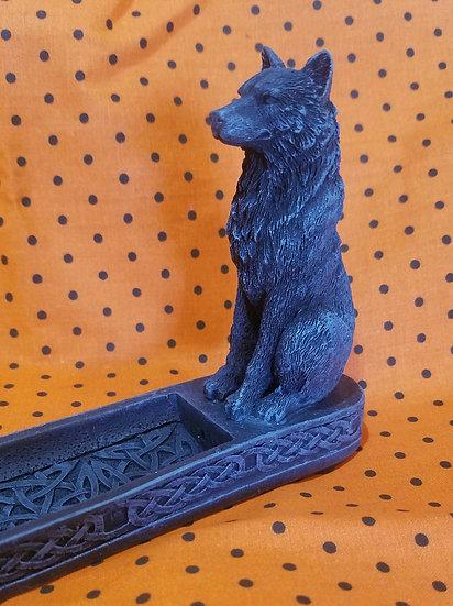 Celtic Wolf Incense Burner